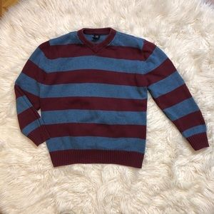 GAP Boys Striped Elbow Patch Sweater Sz 14-16